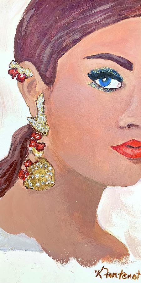 Cleo Painting by Karen Fontenot
