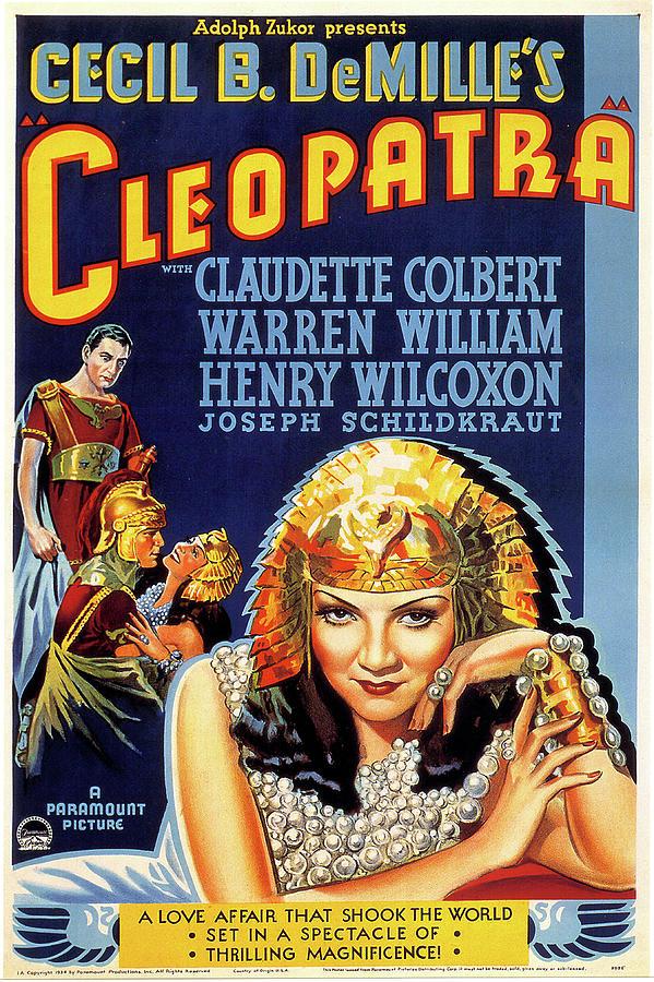 cleopatra Movie Poster 1934 Mixed Media
