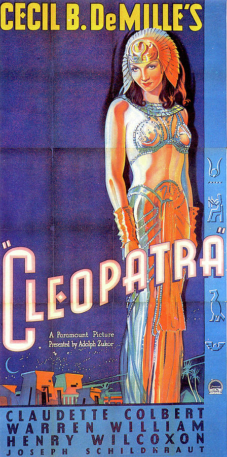 cleopatra Poster 1934 Claudette Colbert Mixed Media