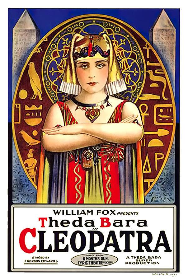 cleopatra, With Theda Bara, 1917 Mixed Media