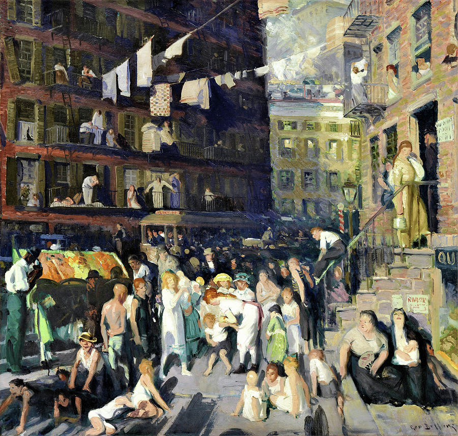 Cliff Dwellers Painting - Cliff Dwellers - Digital Remastered Edition by George Wesley Bellows
