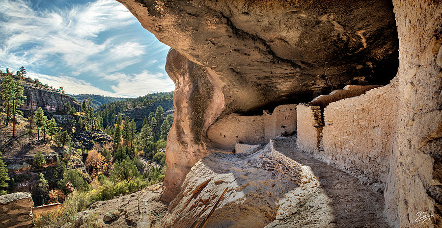 Cliff Dwellings Panorama by Endre Balogh