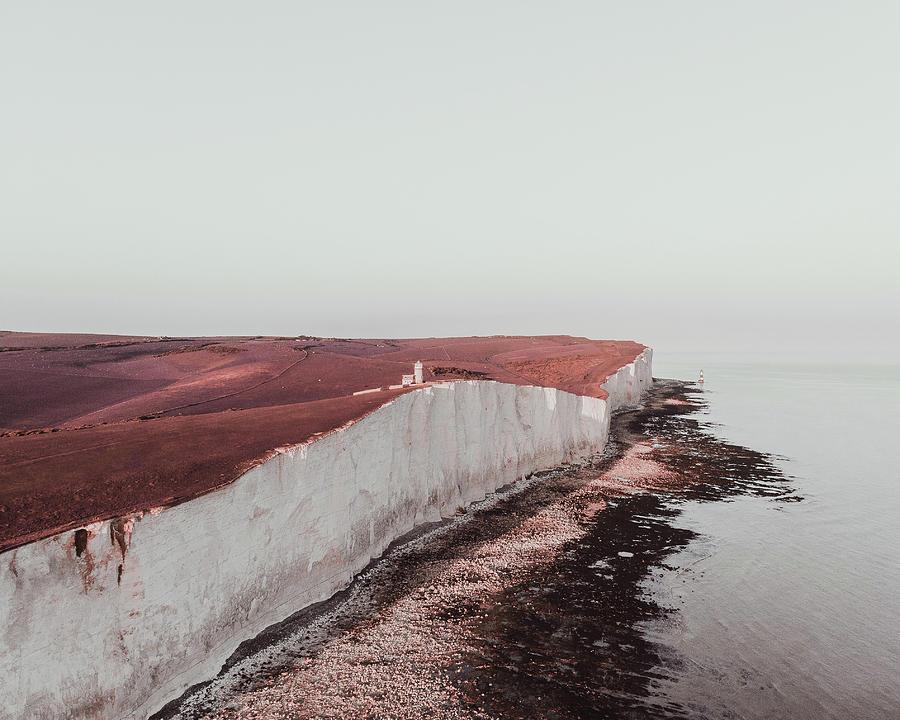 Cliff Near Seashore - Surreal Art By Ahmet Asar Digital Art