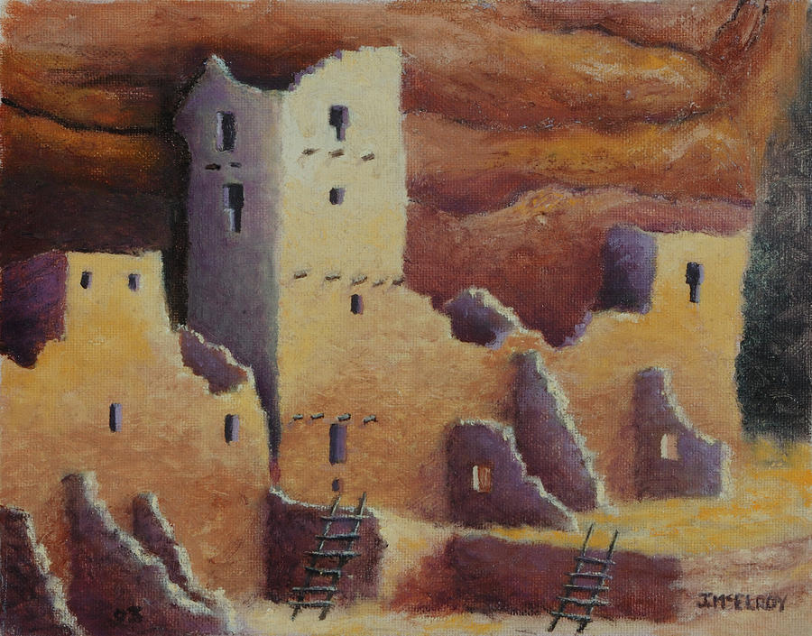 Anasazi Painting - Cliff Pallace by Jerry McElroy