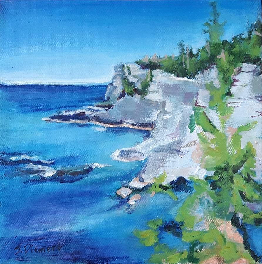 Cliffs Of The Grotto Intobermory - 024 Of Celebrate Canada 150 Painting