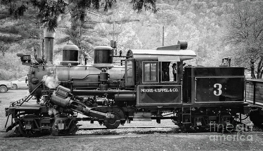 Climax 3 Steam Engine in WV by Kathleen K Parker