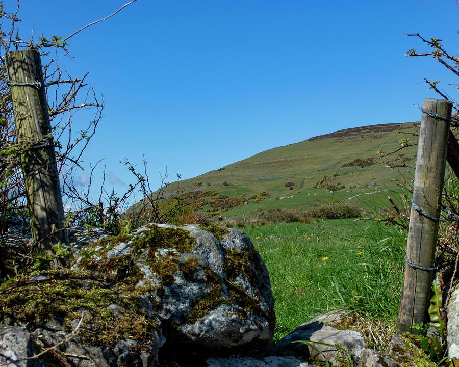 Climbing Knocknarea - January by Lisa Blake