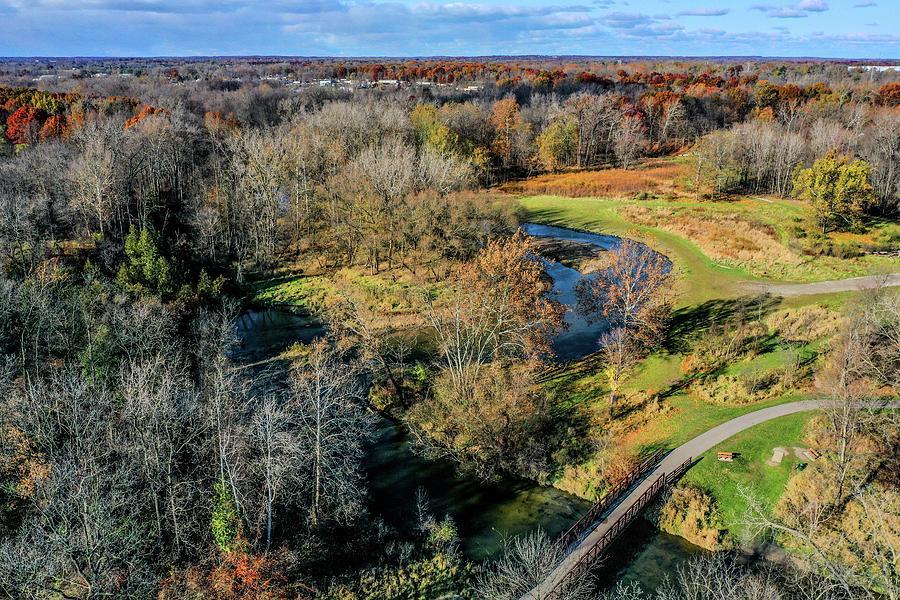 Clinton River in River Bend PARK DJI_0392 by Michael Thomas