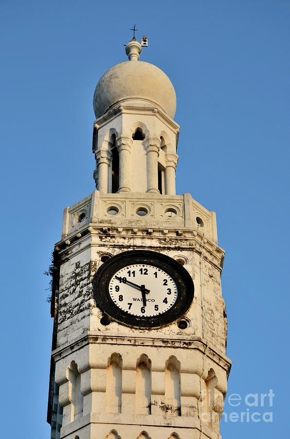 Clock face of Clock Tower with dome Jaffna Sri Lanka by Imran Ahmed
