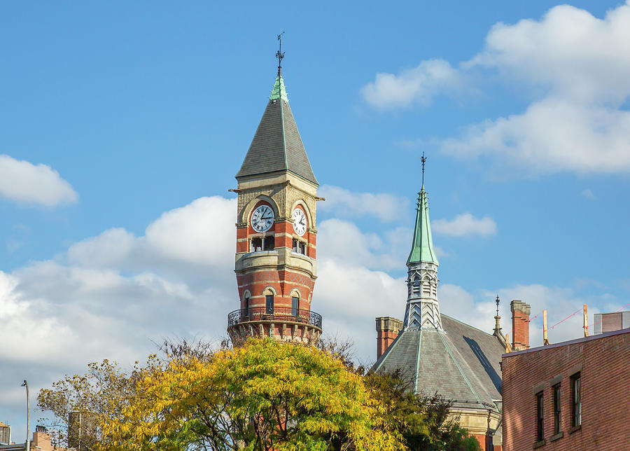 Clock Tower and Spire by Cate Franklyn