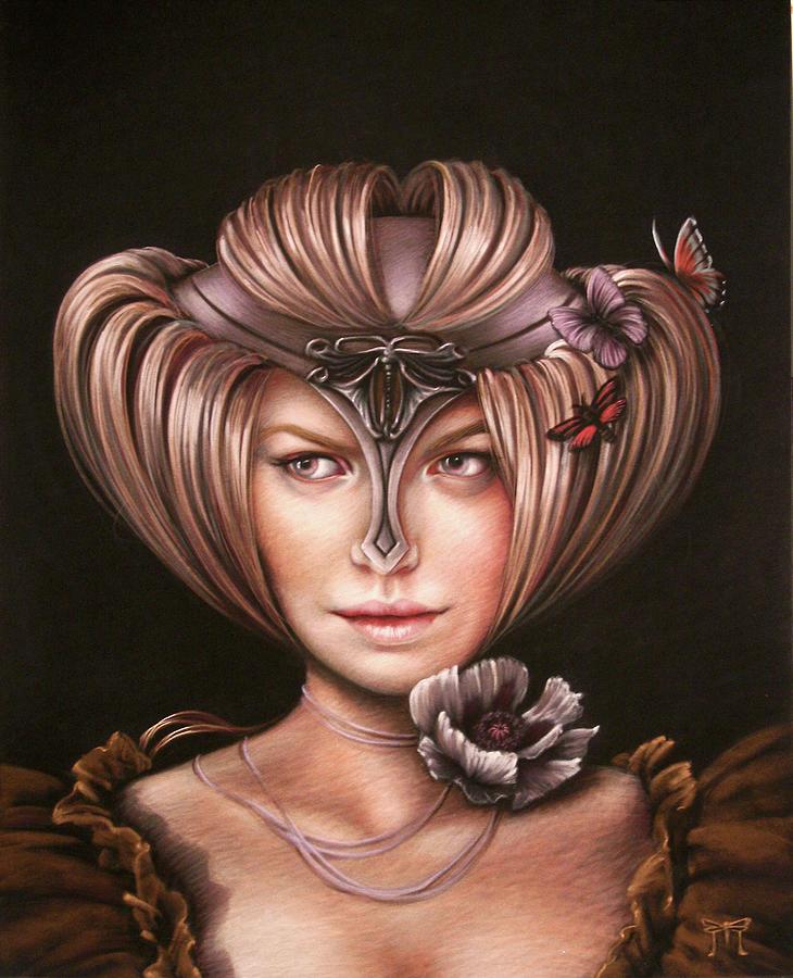 Portrait Painting - Cloistered Coif by Melanie Stimmell Van Latum
