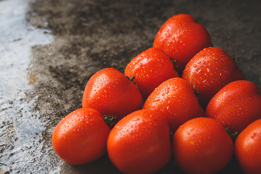 Close-Up Of Wet Tomatoes Photograph by Thu Thai Thanh / EyeEm