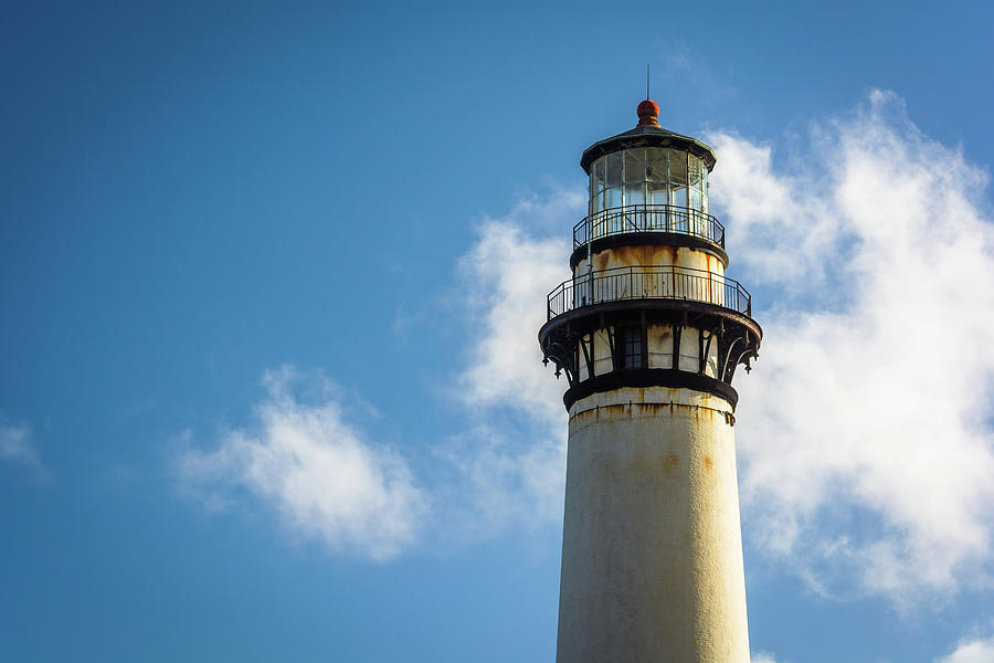 Close-up, Pigeon Point Lighthouse Photograph