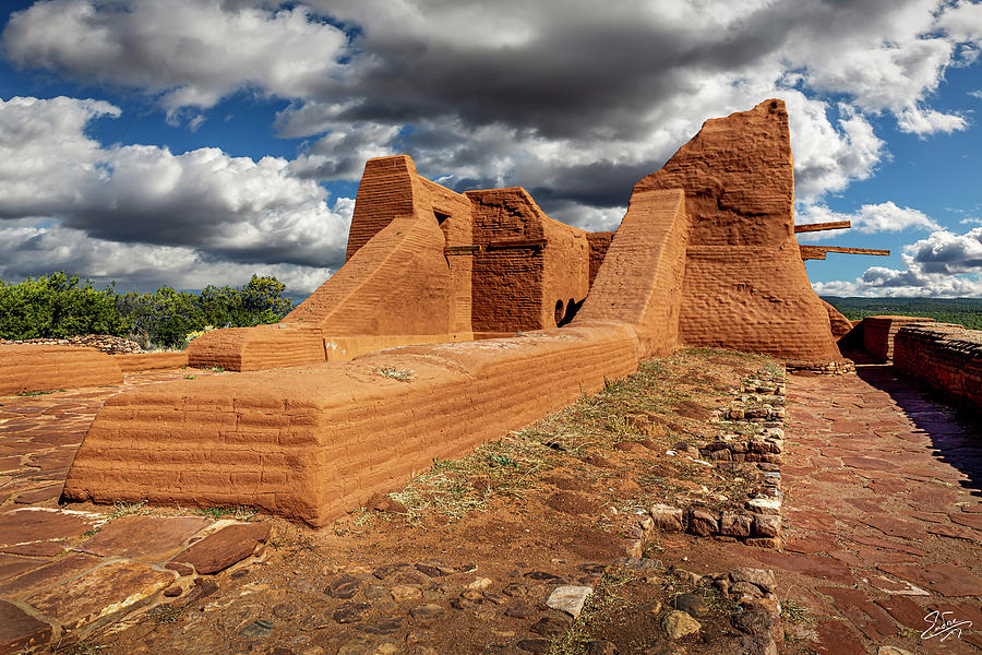 Close View Of The Pecos Church Ruin by Endre Balogh