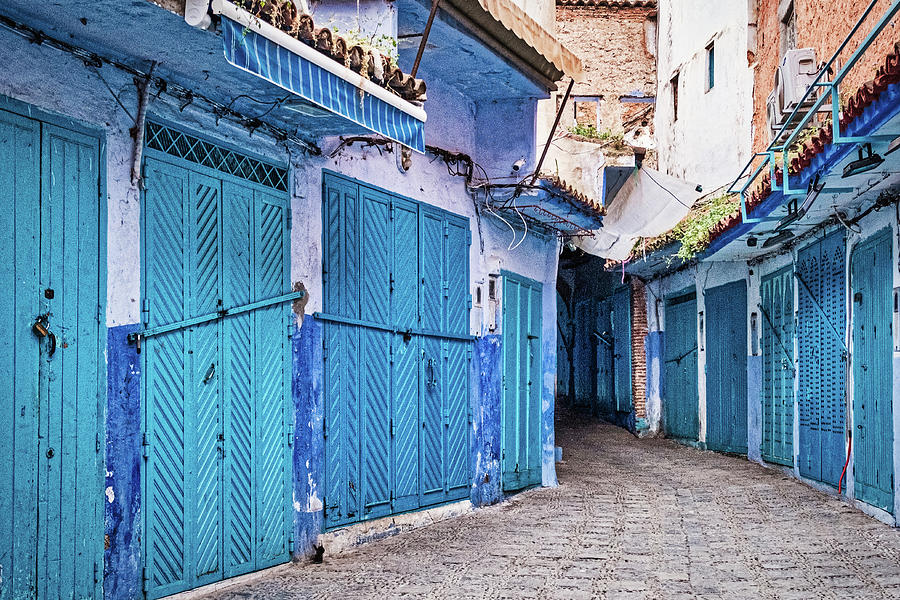 Closed Blue Doors - Morocco by Stuart Litoff