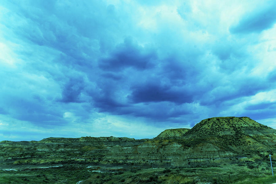 Cloud Formation Over The Badlands In Glendive Montana Photograph