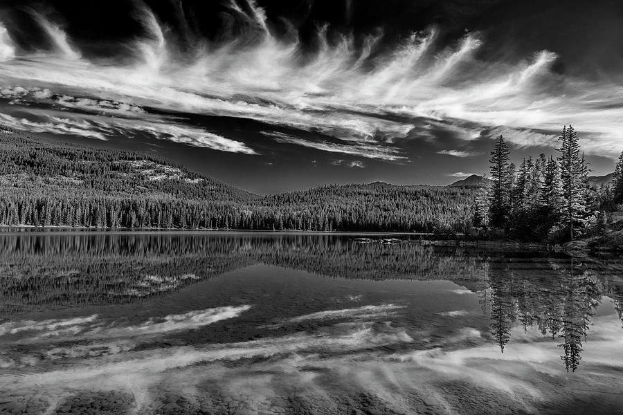 Cloud Formation, Canadian Rockies, Black and White, Landscape by Ronald Santini