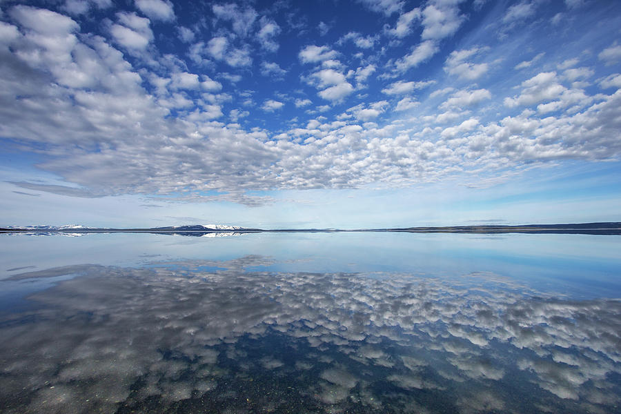 Cloud Reflection at Yellowstone Lake by Max Waugh