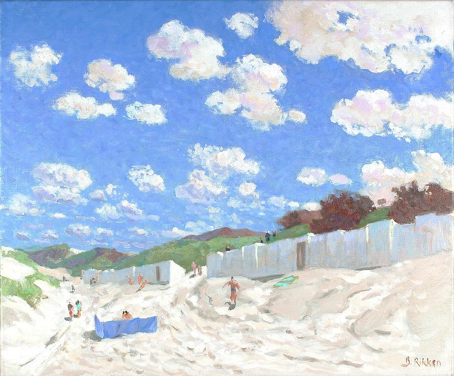 Summer Painting - Clouds above the sunny beach by Ben Rikken