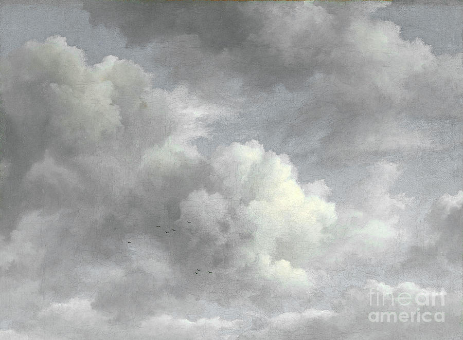 Clouds And Gulls Painting