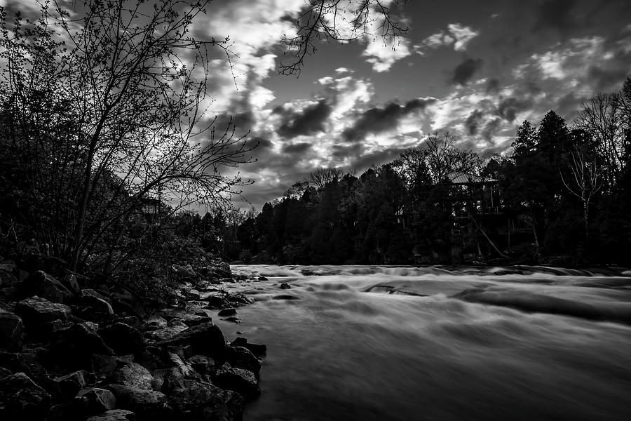 Clouds And Sun On The Milwaukee River Photograph