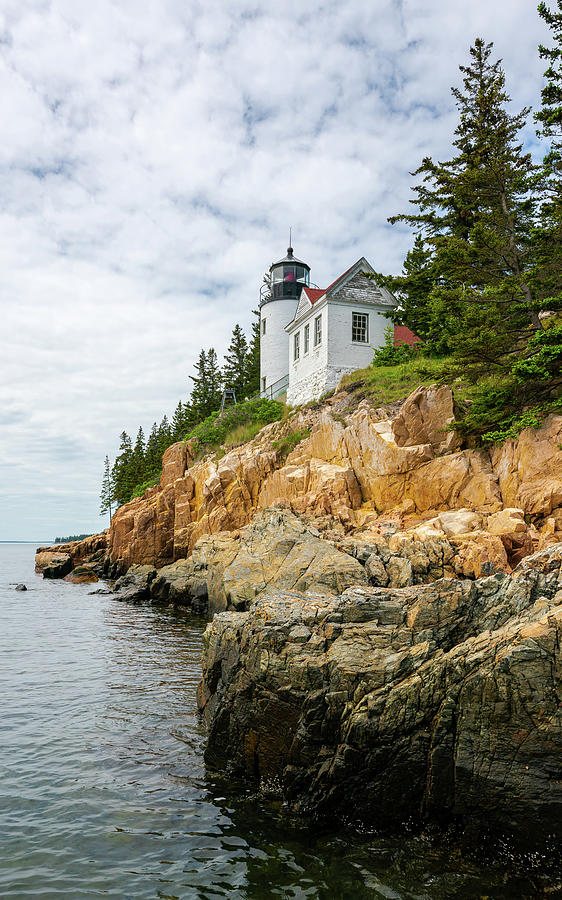 Clouds Over Bass Harbor Photograph