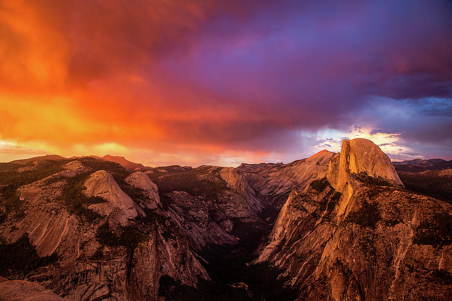 Clouds Over Half Dome - Sunset In Yosemite National Park Photograph