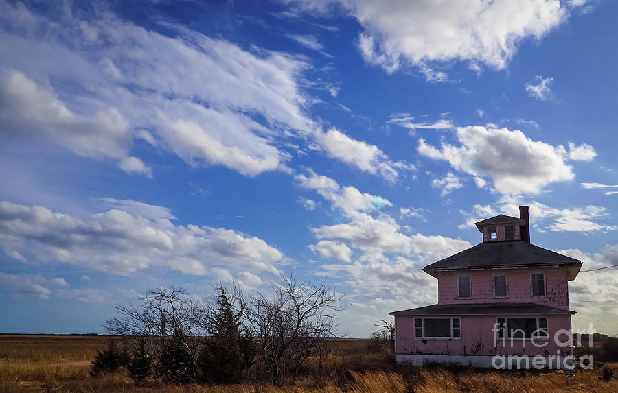 Clouds Over the Pink House by Mary Capriole