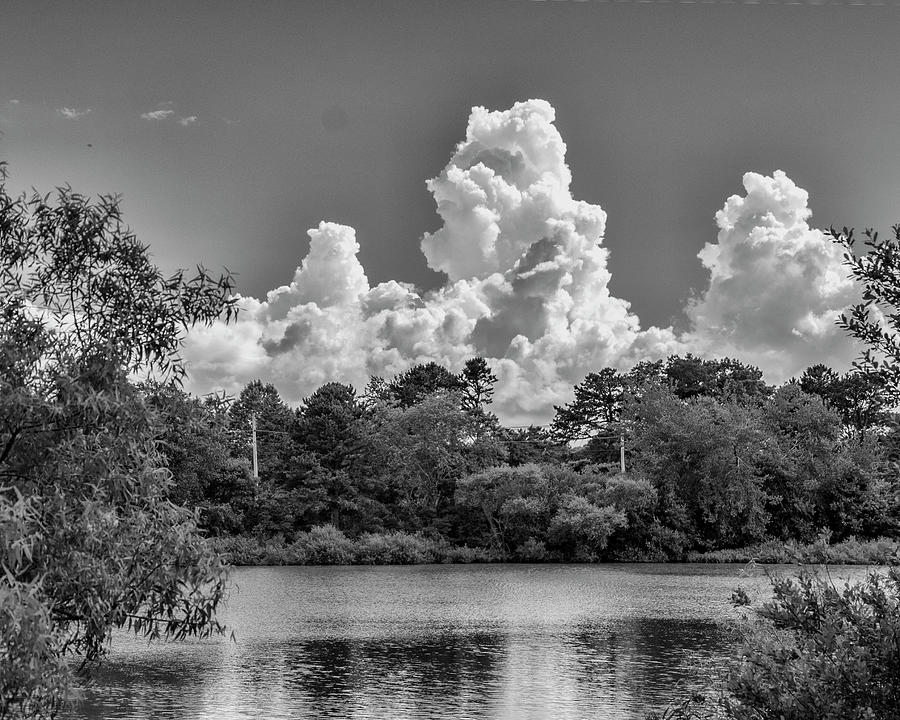 Clouds Over The Pond Photograph
