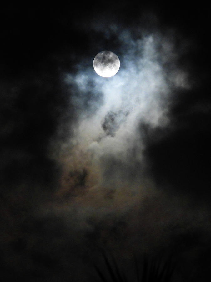 Cloudscape With Snow Moon 3 Photograph