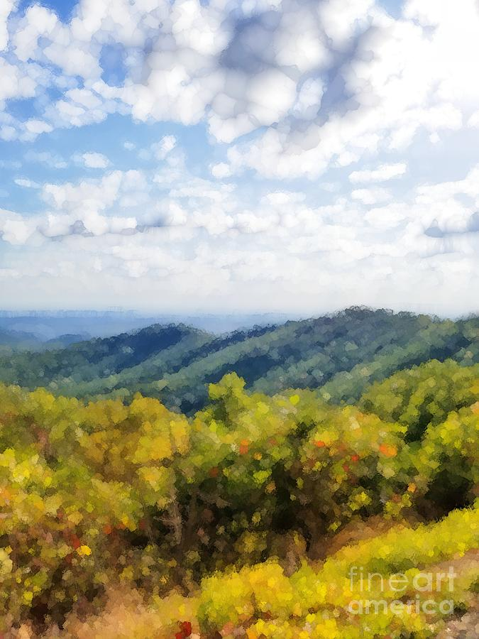 Cloudy Day In The Mountains  by Rachel Hannah