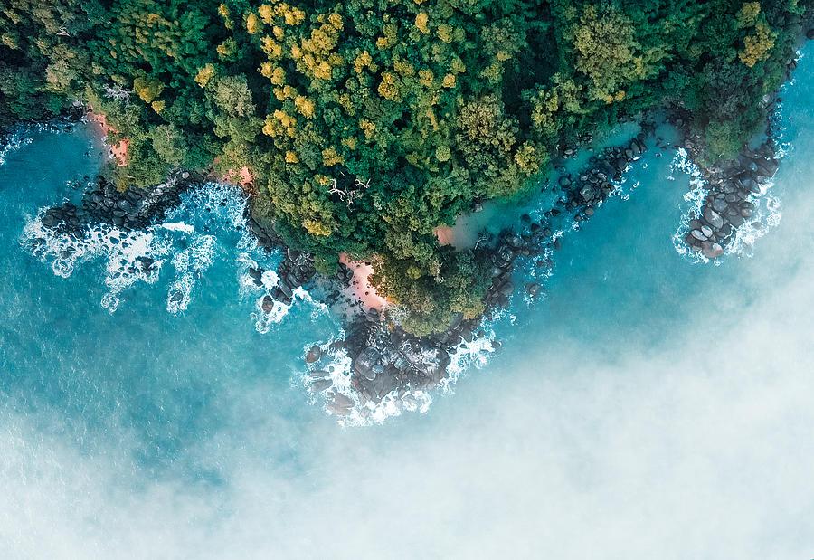 Island Photograph - Cloudy Island by Nihab Rahman