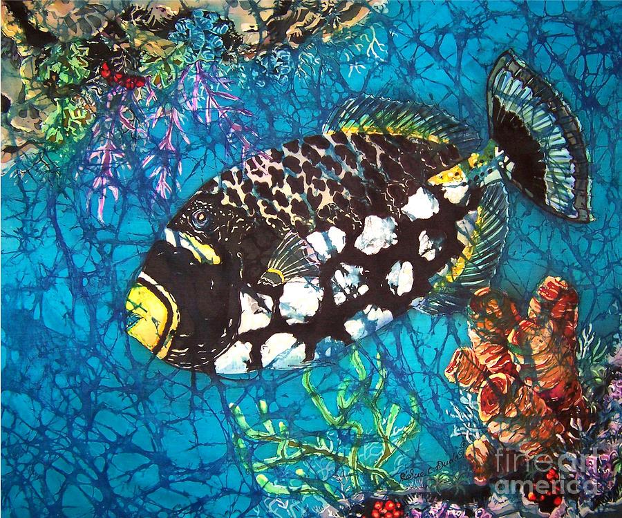 Clown Painting - Clown Triggerfish by Sue Duda