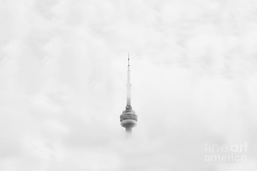 CN Tower In The Clouds by Michael Graham