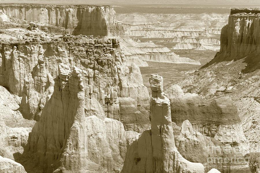 Coal Mine Canyon Photograph - Coal Mine Canyon, Az, Monochrome by Felix Lai