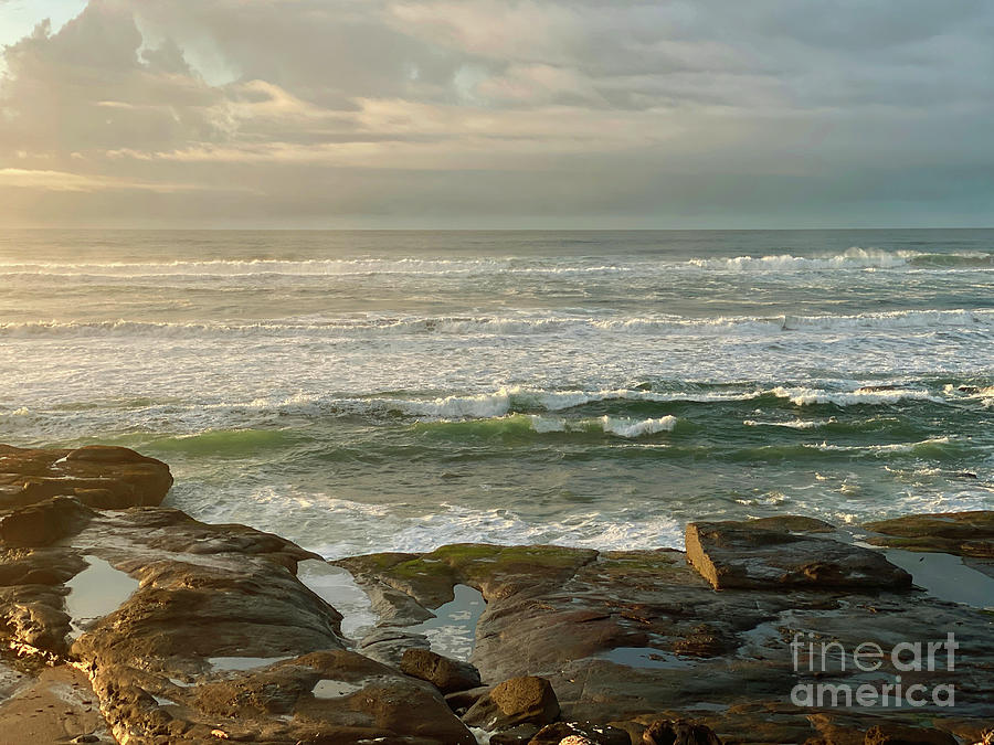 Coastal Dawn Light Painting By Jeanette French
