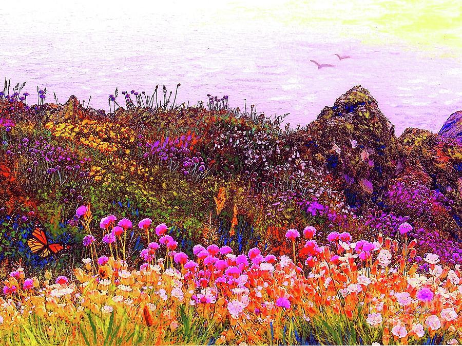 Coastal Flowers Painting
