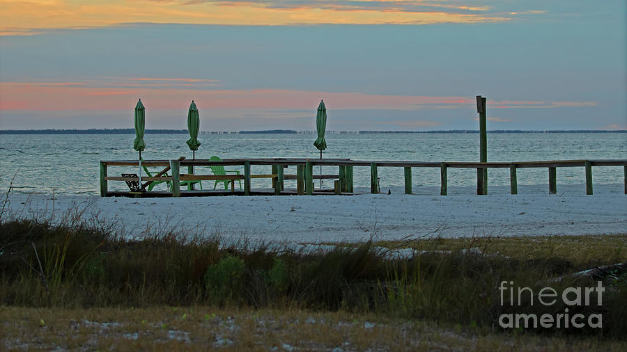 Pier Photograph - Early Evening Tranquility by Banyan Ranch Studios