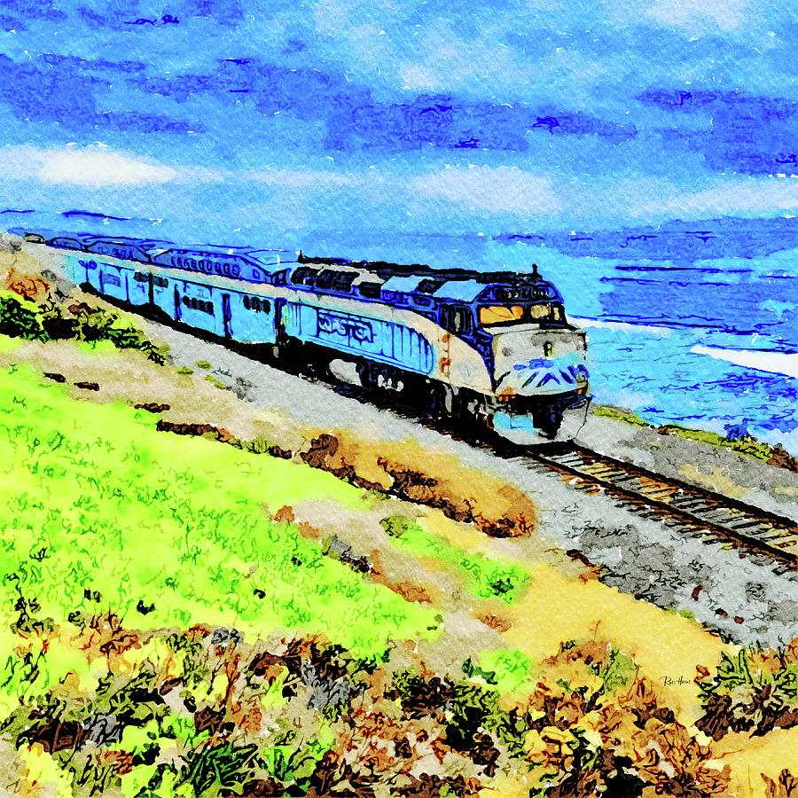 Coaster In Del Mar Painting