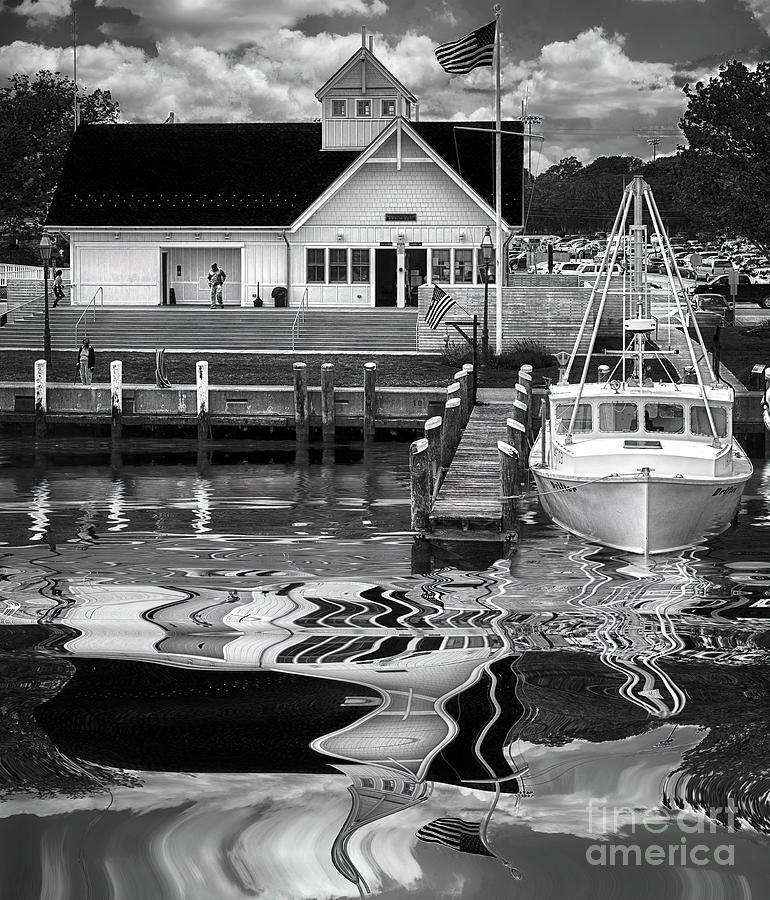 Coastguard Hyannis Ma In B And W Photograph