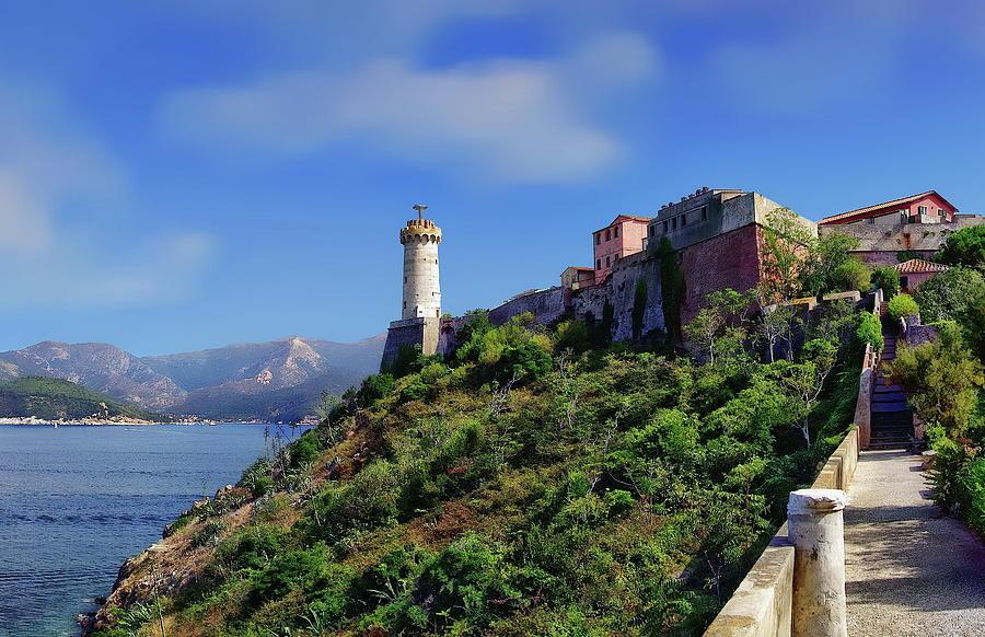 Coastline of Portoferraio by Anthony Dezenzio
