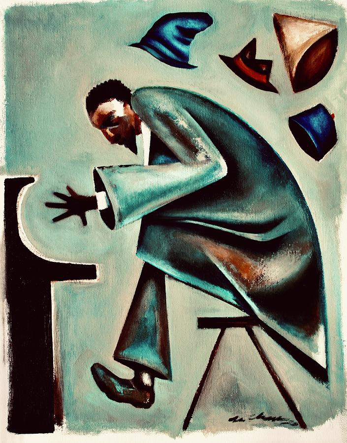 Thelonious Monk Painting - Coat and Hats / Thelonious Monk by Martel Chapman