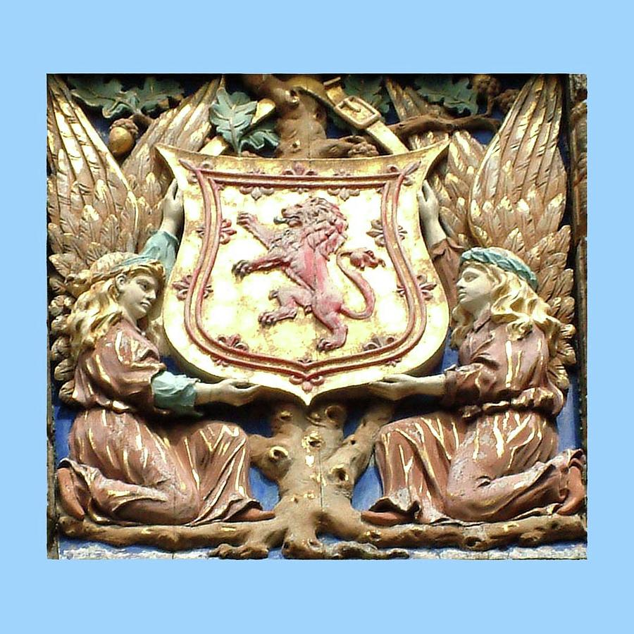Coat Of Arms Falkland Palace Blue Edge 1 Photograph