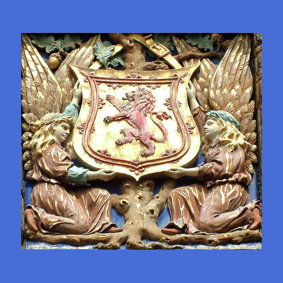 Coat Of Arms Falkland Palace Blue Edge 2 Painting