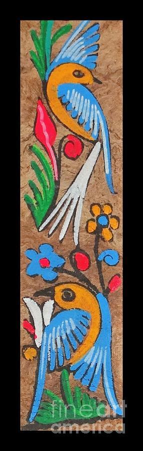 Cockatoo Palms Painting Mixed Media