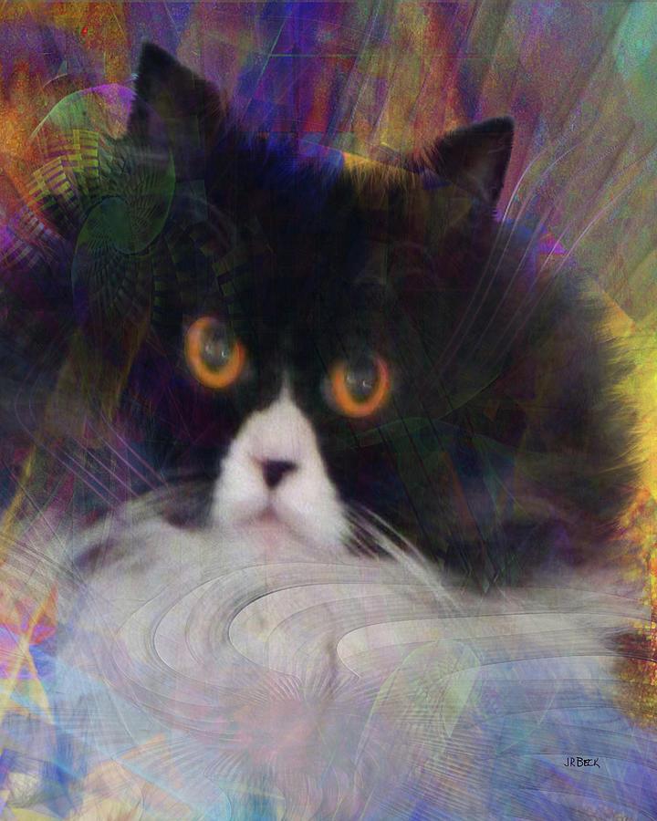 Cats Digital Art - Coco Au Vin by John Robert Beck