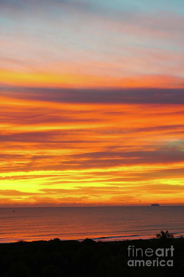 Cocoa Beach Sunrise Photograph - Cocoa Beach Sunrise, Florida by Felix Lai