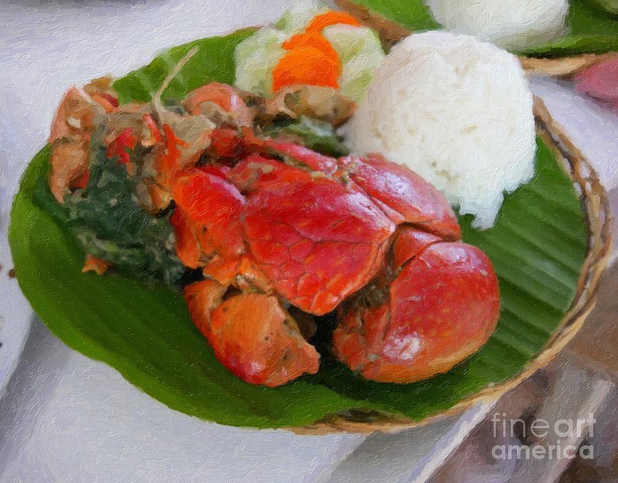Coconut Crab Meal Digital Art