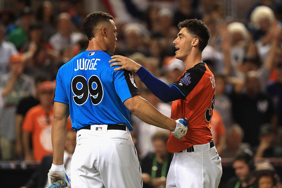 Cody Bellinger and Aaron Judge Photograph by Mike Ehrmann