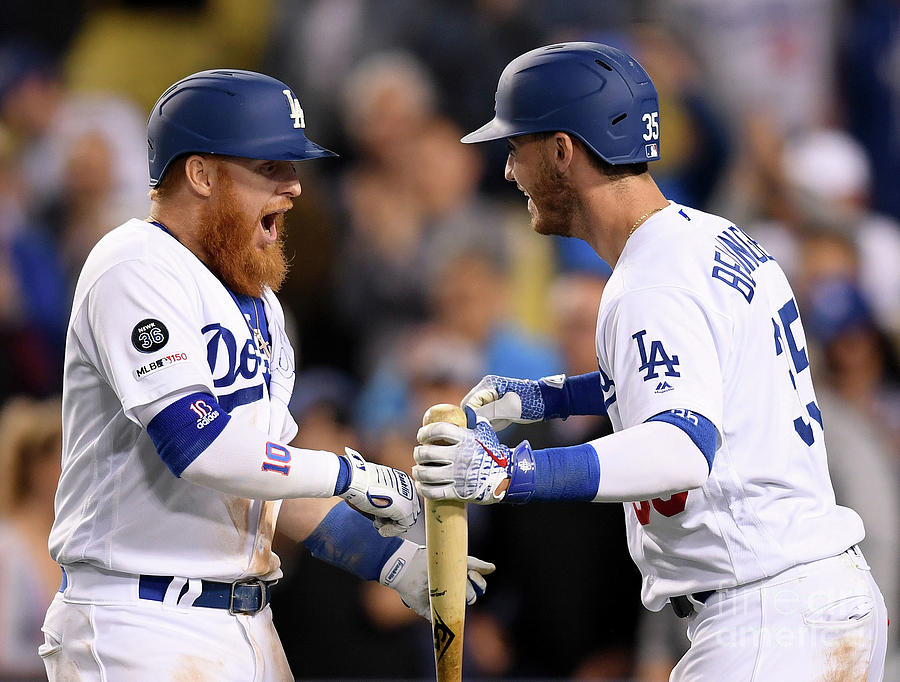 Cody Bellinger And Justin Turner Photograph by Harry How